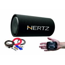 Pachet Subwoofer auto Hertz DST 30.3B + Amplificator Stetsom IR 280.1 + kit de cabluri