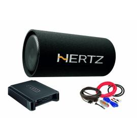 Pachet Subwoofer auto Hertz DST 30.3B + Amplificator Hertz HCP 2 + kit de cabluri complet Subwoofere Auto