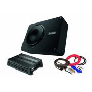 Pachet Subwoofer auto AUDISON APBX 10 DS + Amplificator Hertz D POWER 1 + kit de cabluri complet