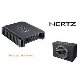 Pachet Hertz DBX 30.3+Amplificator HCP2 Subwoofere Auto